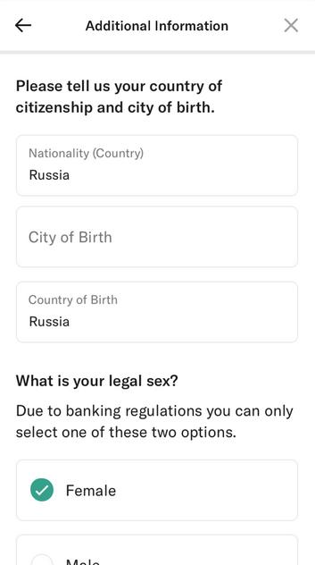 счет в иностранном банке N26 гражданство
